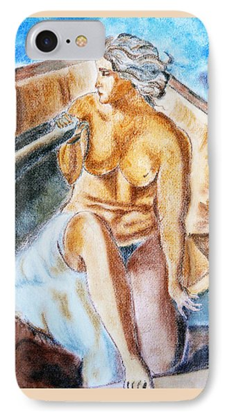 The Woman Rower Phone Case by Jasna Dragun