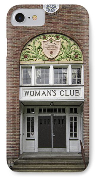 The Womans Club Bids You Welcome Phone Case by Daniel Hagerman