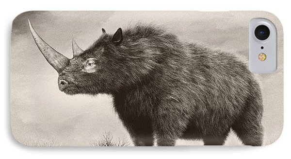 The Woolly Rhinoceros Is An Extinct Phone Case by Philip Brownlow