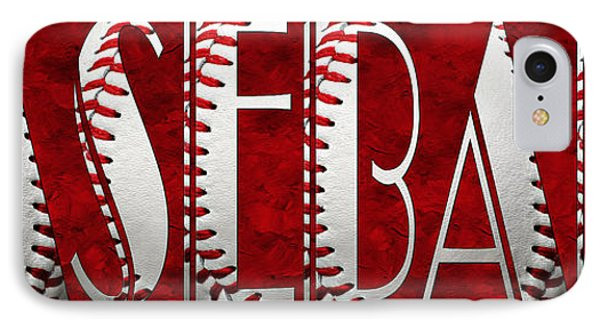 The Word Is Baseball On Red Phone Case by Andee Design