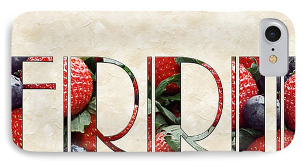 The Word Is Berries  IPhone 7 Case by Andee Design