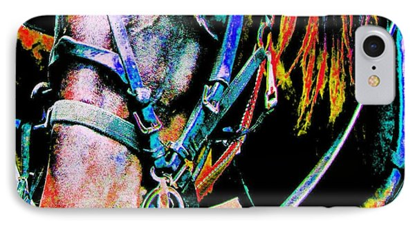 The Working Horse IPhone Case by Annie Zeno