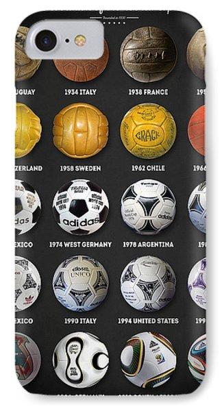 Pele iPhone 7 Case - The World Cup Balls by Taylan Apukovska