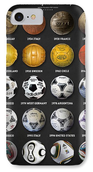 The World Cup Balls IPhone Case by Taylan Apukovska