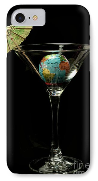 The World Tini Cocktail IPhone Case by Linda Matlow