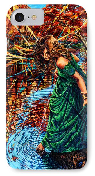 IPhone Case featuring the painting The World Unseen by Greg Skrtic