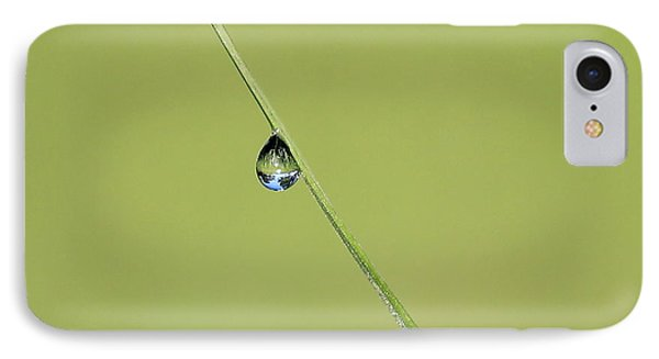 IPhone Case featuring the photograph The World Within A Dewdrop by Penny Meyers