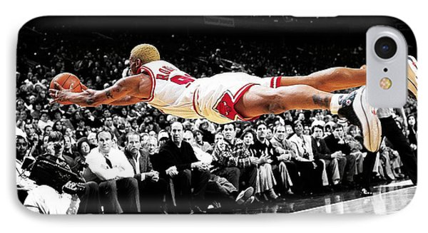 The Worm Dennis Rodman IPhone Case by Brian Reaves
