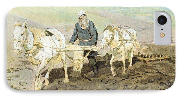 The Writer Lev Nikolaevich Tolstoy IPhone Case by Ilya Efimovich Repin