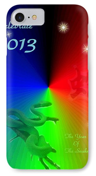The Year Of The Snake IPhone Case by Joyce Dickens