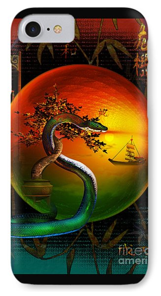 IPhone Case featuring the digital art The Year Of The Snake by Shadowlea Is