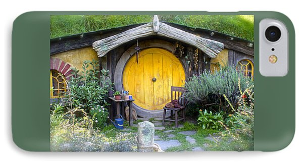 The Yellow Hobbit Door IPhone Case by Venetia Featherstone-Witty