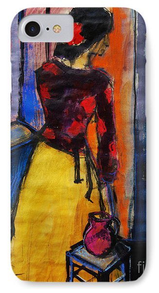 The Yellow Skirt - Pia #9 - Figure Series IPhone Case by Mona Edulesco