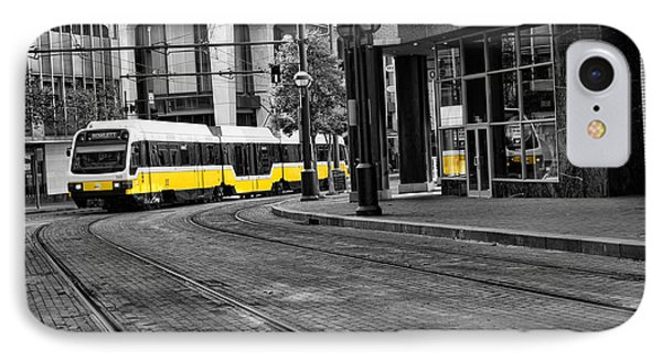 The Yellow Train Of Dallas IPhone Case by Kathy Churchman
