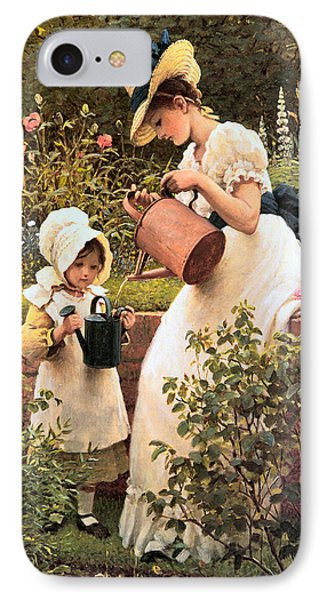 The Young Gardener 1889 IPhone Case by George Dunlop Leslie