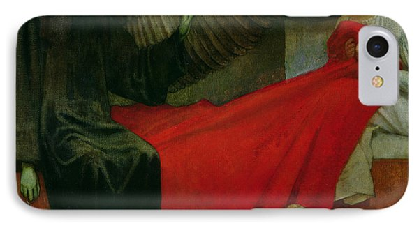 The Young Girl And Death IPhone Case by Marianne Stokes