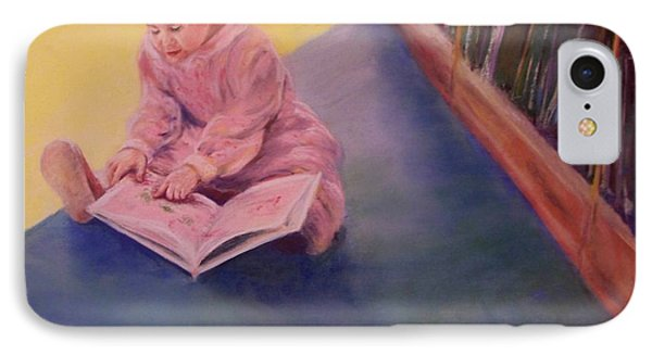 IPhone Case featuring the painting The Young Librarian by Mary Lynne Powers