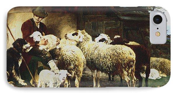 The Young Shepherd IPhone Case by Heirich von Zugel
