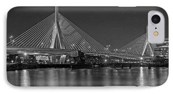 The Zakim Bridge Bw IPhone Case by Susan Candelario