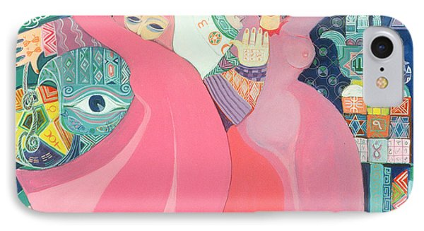 The Zar II, 1992 Acrylic On Board IPhone Case by Laila Shawa