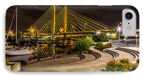 Thea Foss Waterway Hwy 509 Bridge IPhone Case by Rob Green