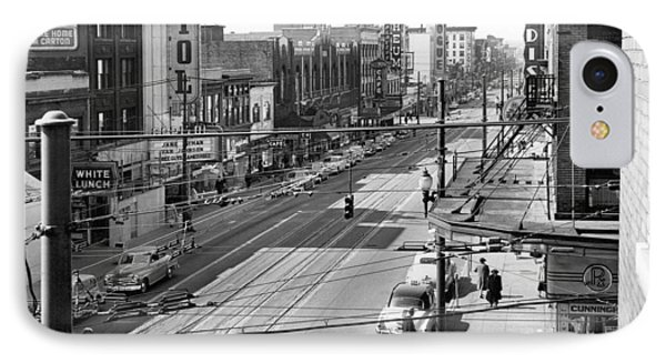 Theater Row - Vancouver Canada - 1951 Phone Case by Daniel Hagerman