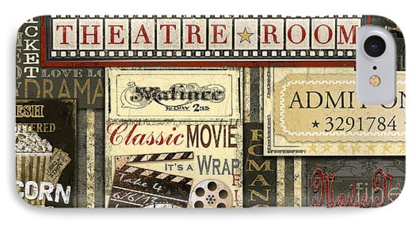 Theatre Room IPhone Case by Jean Plout