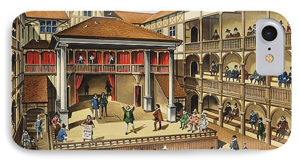 Theatre With Performance Of Hamlet Gouache On Paper IPhone Case by English School