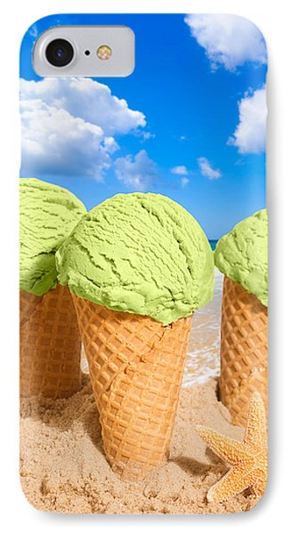 Thee Minty Icecreams IPhone Case by Amanda Elwell