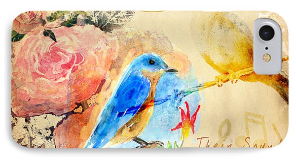 IPhone Case featuring the mixed media Their Sounds Fill The Air by Arline Wagner