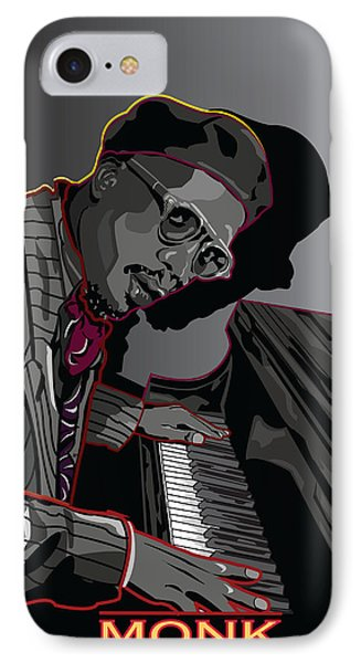 Thelonius Monk Legendary Jazz  Pianist Phone Case by Larry Butterworth