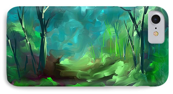 IPhone Case featuring the painting Then There Was Green by Steven Lebron Langston
