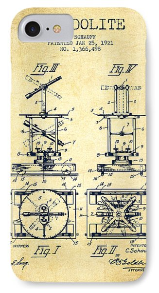 Theodolite Patent From 1921- Vintage IPhone Case by Aged Pixel