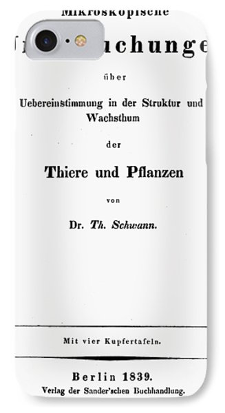 Theodor Schwann (1810-1882) IPhone Case by Granger