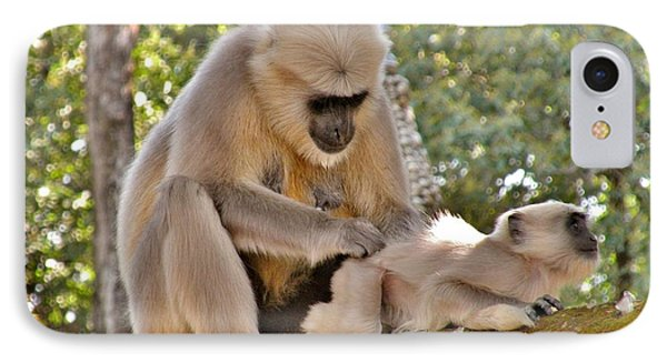 There Is Nothing Like A  Backscratch - Monkeys Rishikesh India IPhone Case