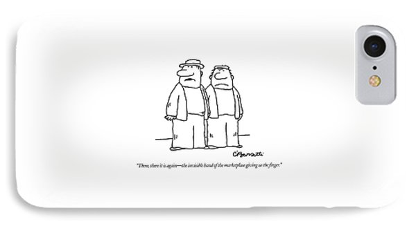 There, There It Is Again - The Invisible Hand  Of IPhone Case by Charles Barsotti