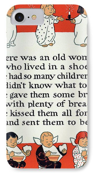 There Was An Old Women Who Lived In A Shoe Phone Case by Mother Goose