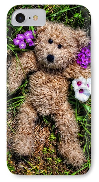 These Are For You - Cute Teddy Bear Art By William Patrick And Sharon Cummings IPhone Case by Sharon Cummings