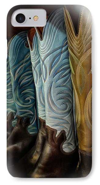 These Boots Are Made For Anything IPhone Case by Lucinda Walter