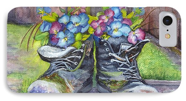 These Boots Were Made For Planting Phone Case by Carol Wisniewski