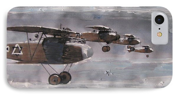 IPhone Case featuring the painting These Open Skies by Vikram Singh