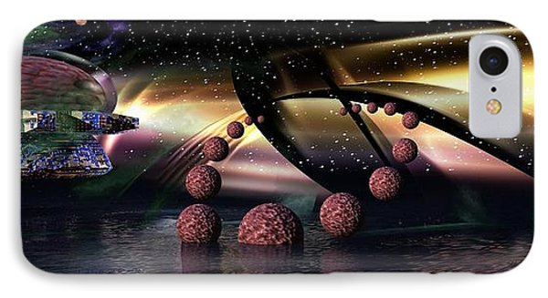 IPhone Case featuring the digital art They Came From Outer Space by Jacqueline Lloyd