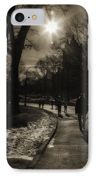 They Come To Central Park Phone Case by Madeline Ellis