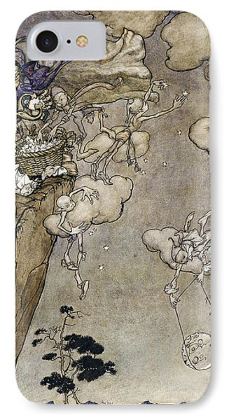They Were Ruled By An Old Squaw Spirit Phone Case by Arthur Rackham
