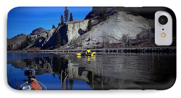 Thin Ice Kayaking Skaha Lake IPhone Case