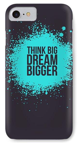 Think Big Dream Bigger 2 IPhone Case