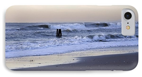 Think Metal - Morning Ocean Rockaways IPhone Case by Maureen E Ritter