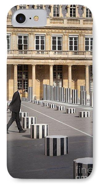 Thinking - At Palais Royal Phone Case by Brian Jannsen