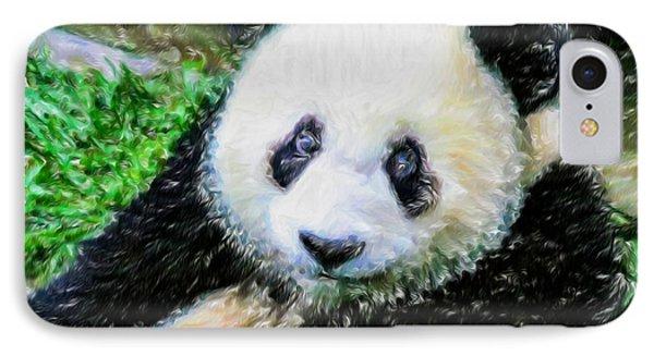 Thinking Of David Panda IPhone Case by Lanjee Chee