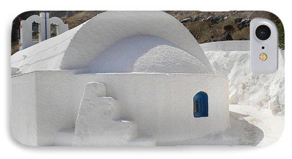 IPhone Case featuring the photograph Thirasia Church Santorini Greece by Colette V Hera  Guggenheim